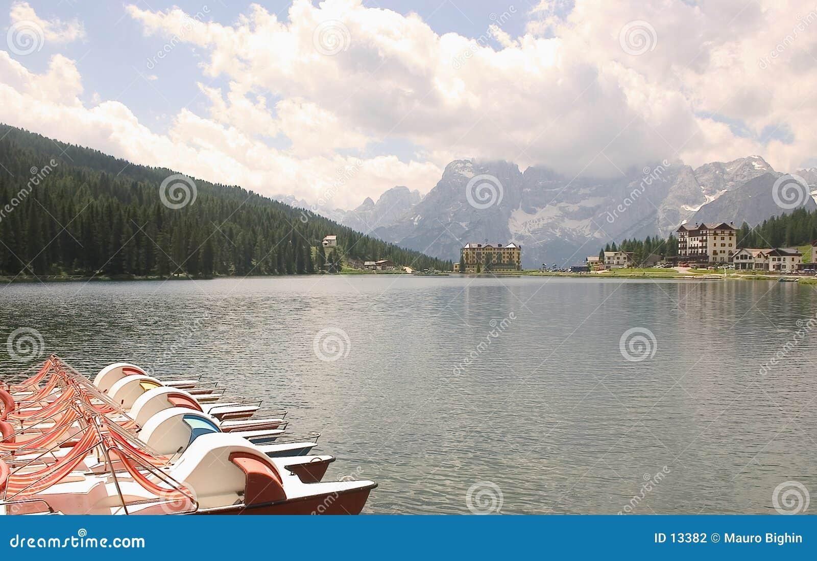 Lago Misurina, dolomías, Italia