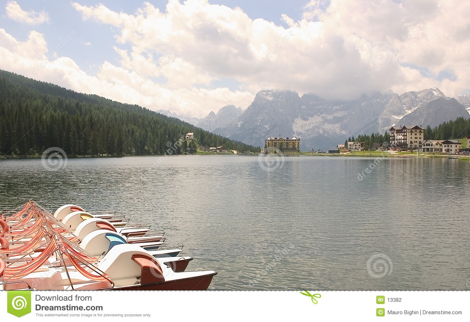 Lago Misurina, dolomia, Italia