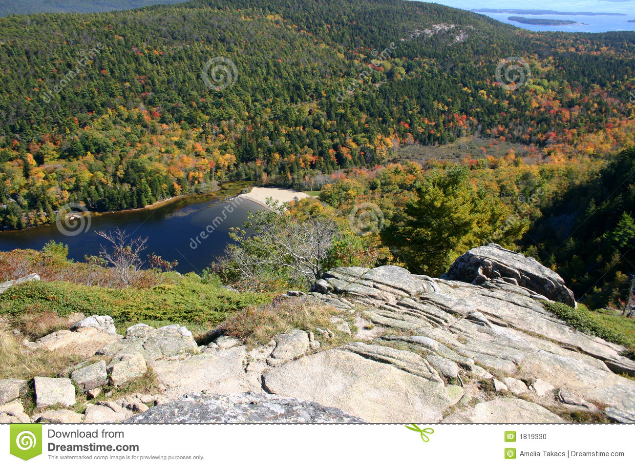 Lago mountain em maine negligencie foto de stock for Consolle lago
