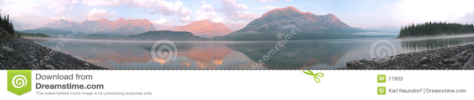 Lago mountain panorâmico