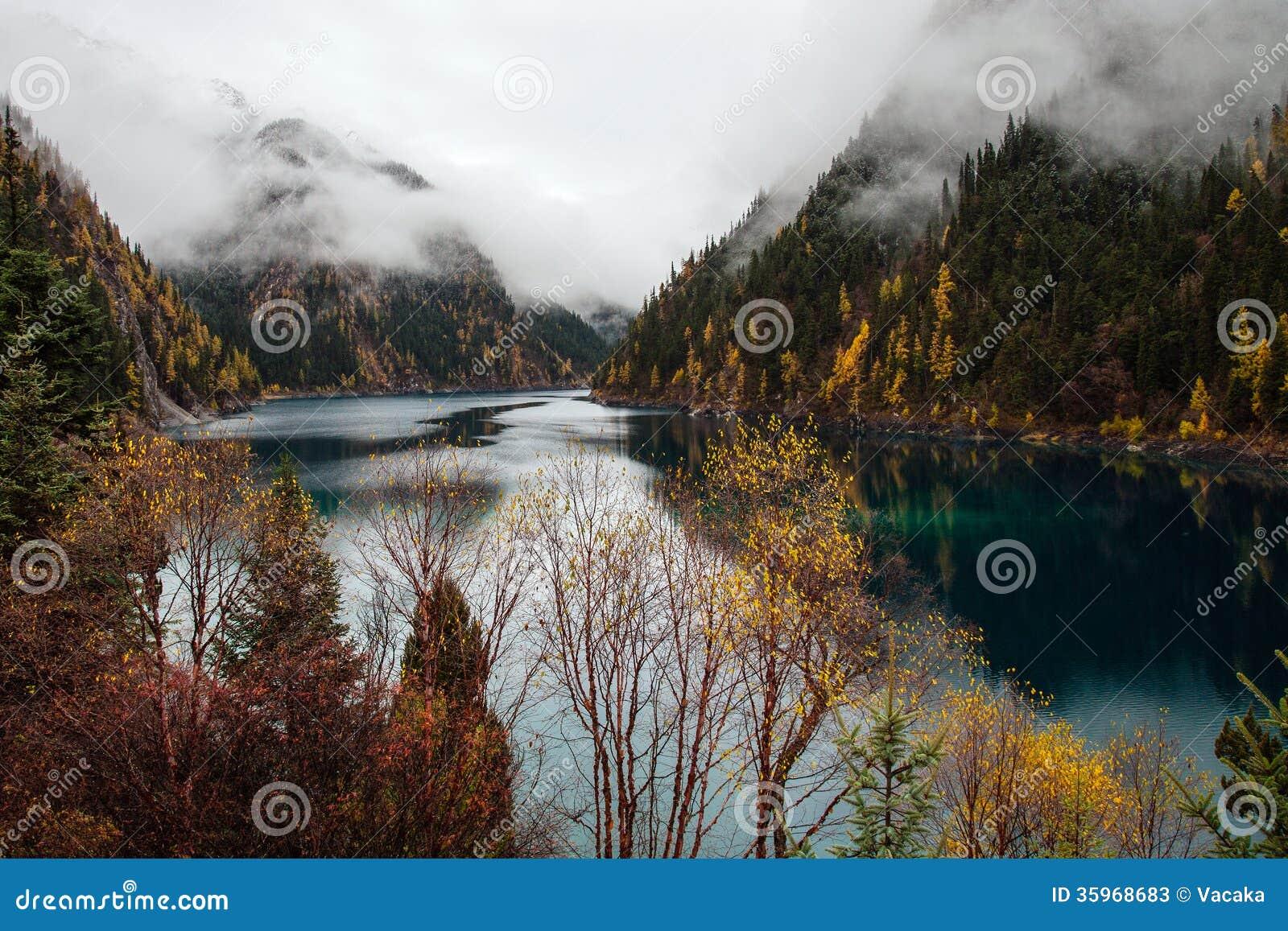 Lago nacional Jiuzhaigou Park_Long