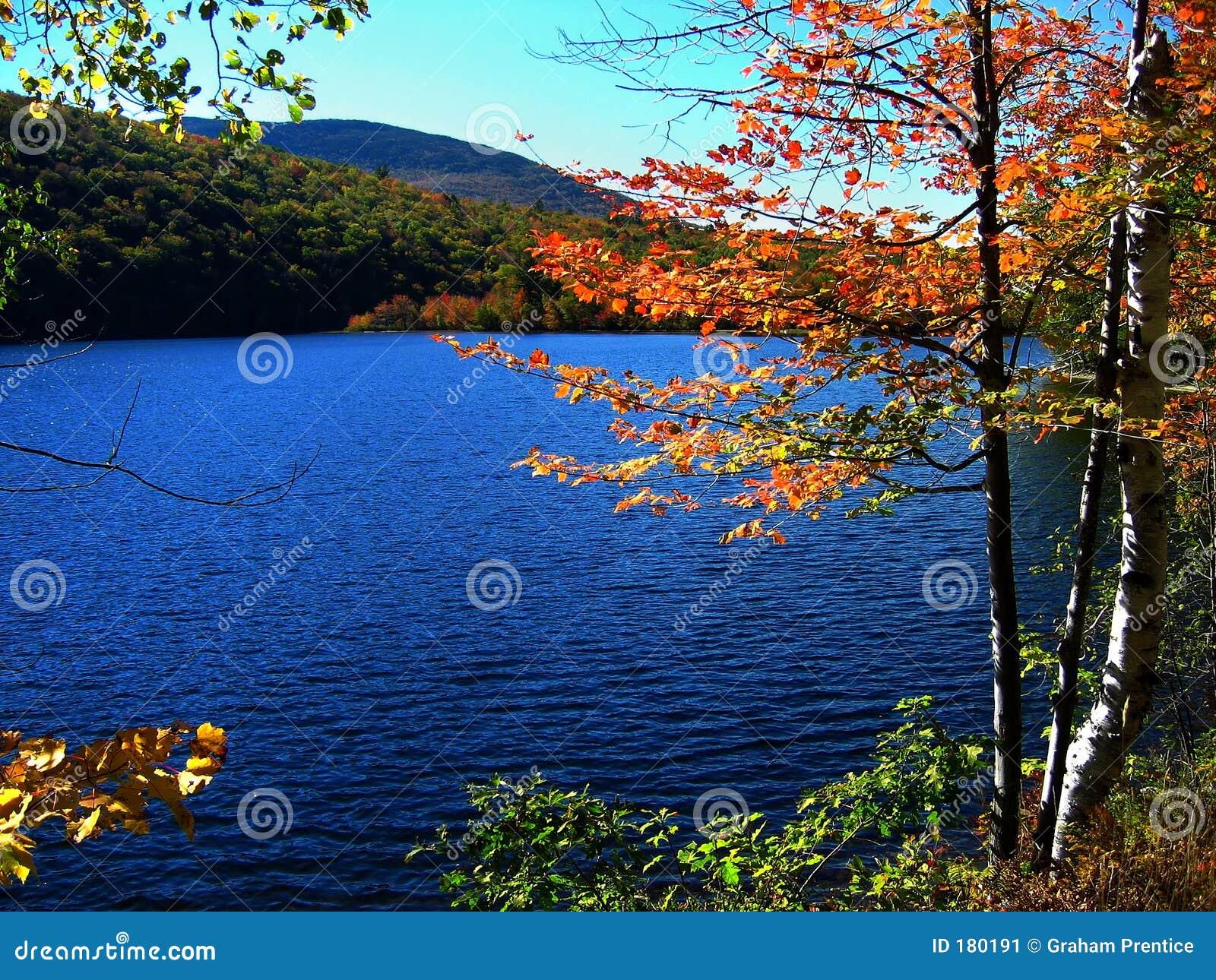 Lago ondulado en caída