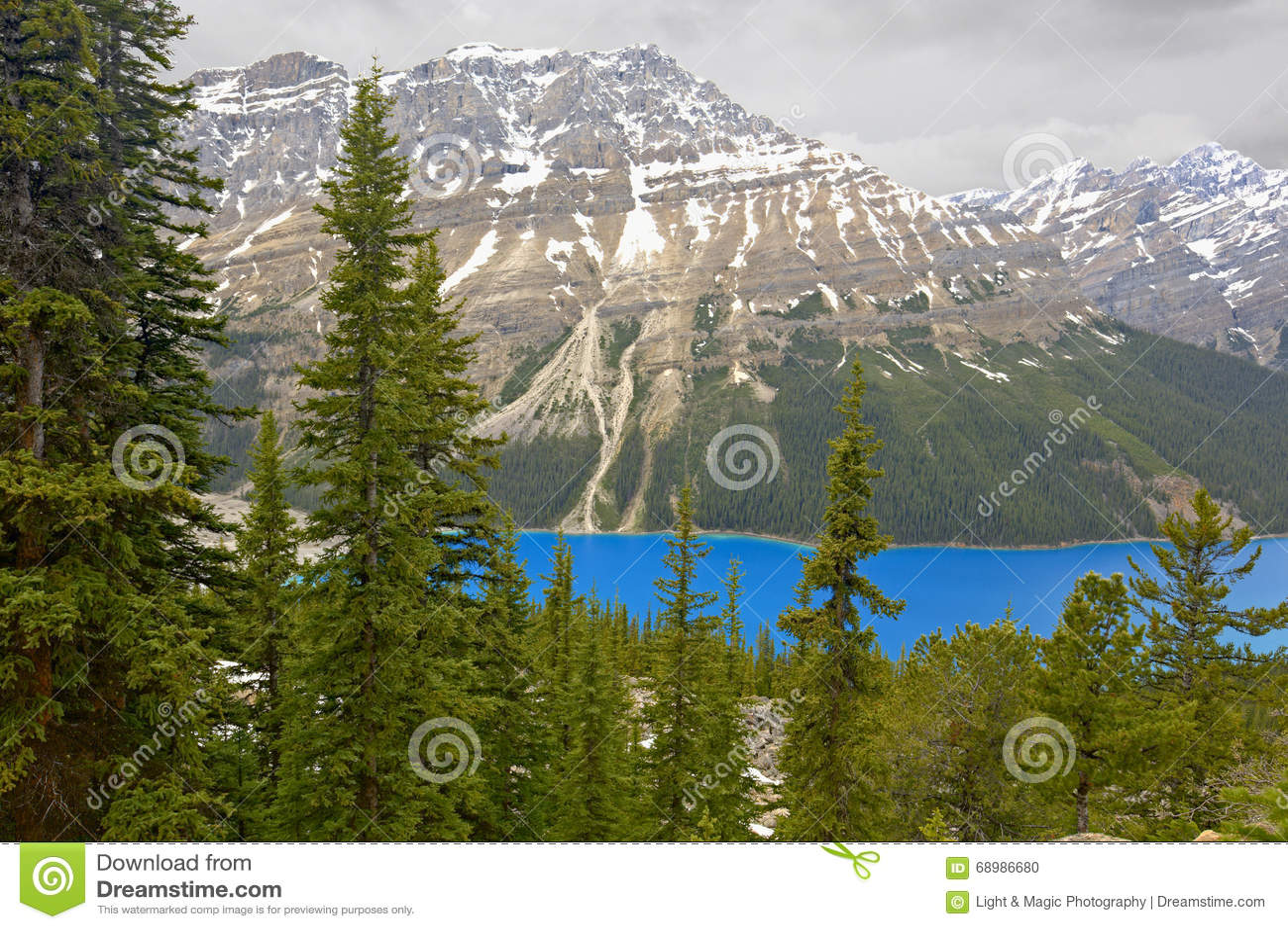 Lago Peyto, parque nacional de Banff