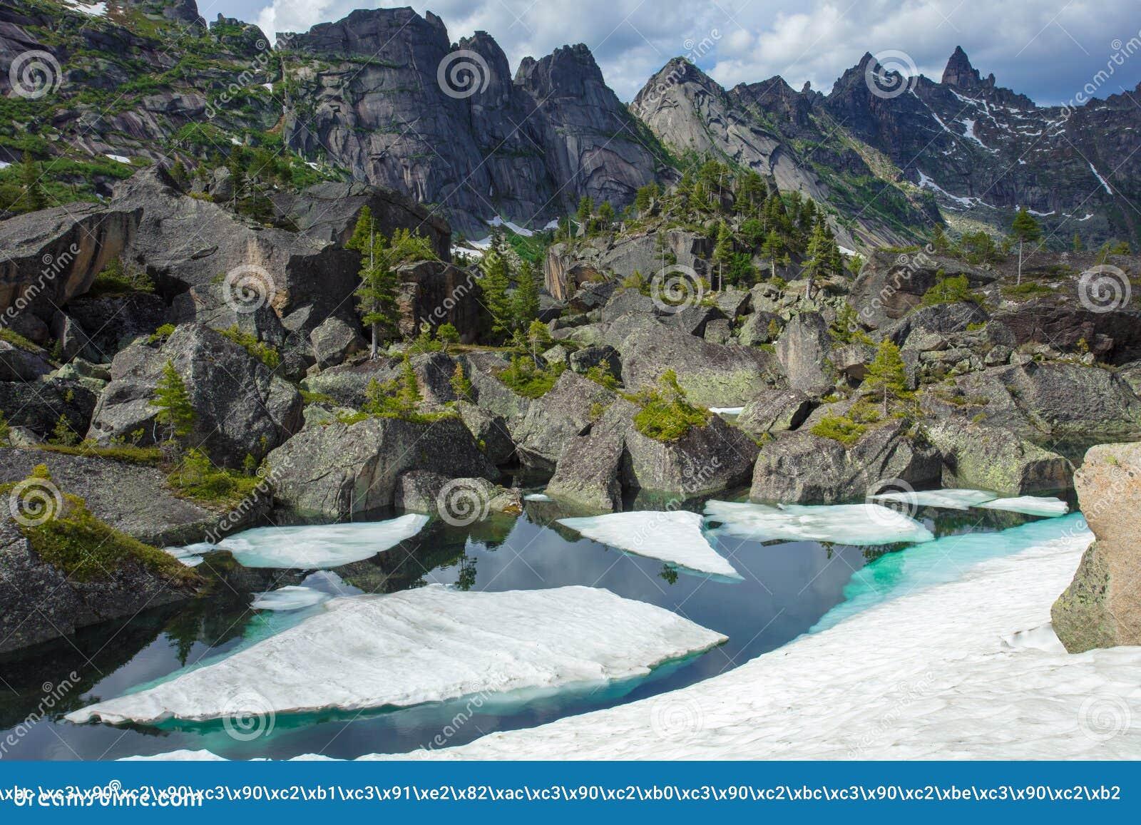 Lago puro mountain da cor verde Verão nas montanhas Paisagem notável da montanha