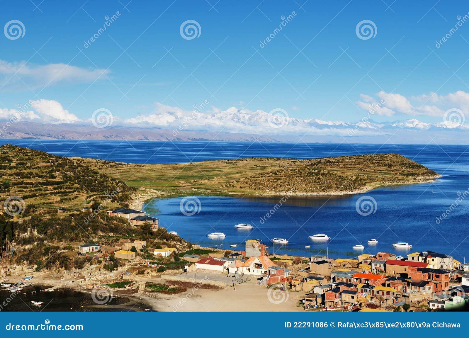 Lago Titicaca, Bolivia, paisaje de Isla del Sol