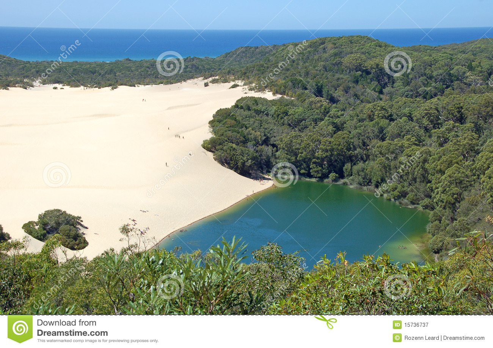 Lago Wabby, isla de Fraser, Australia
