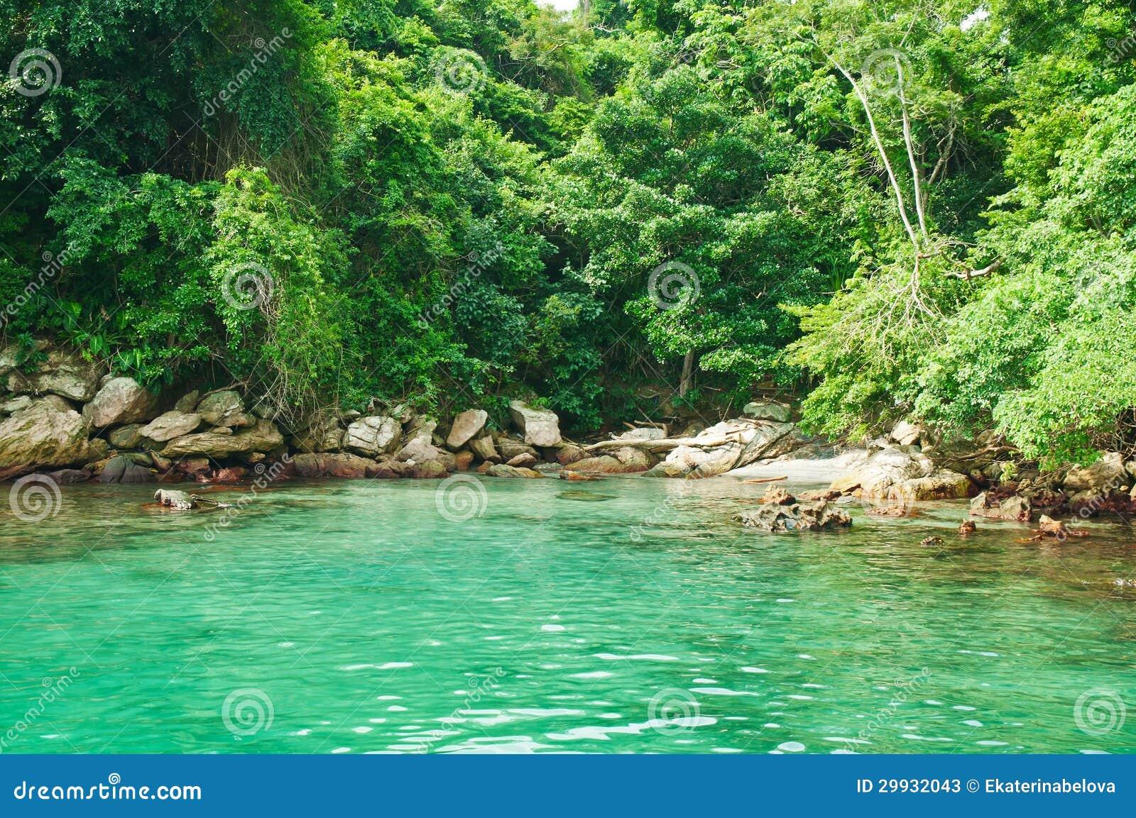 Lagoa Azul Em Dos Reis De Angra. Rio De Janeiro Fotos de Stock  #2F9C6C 1300x953