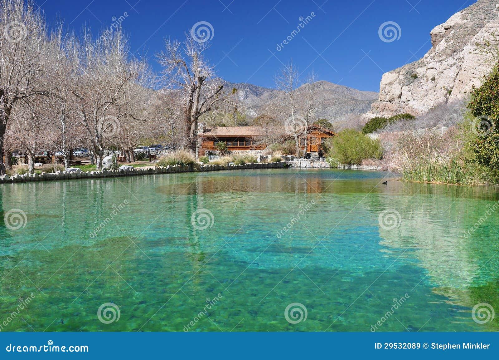 Lagoa da garganta de Whitewater