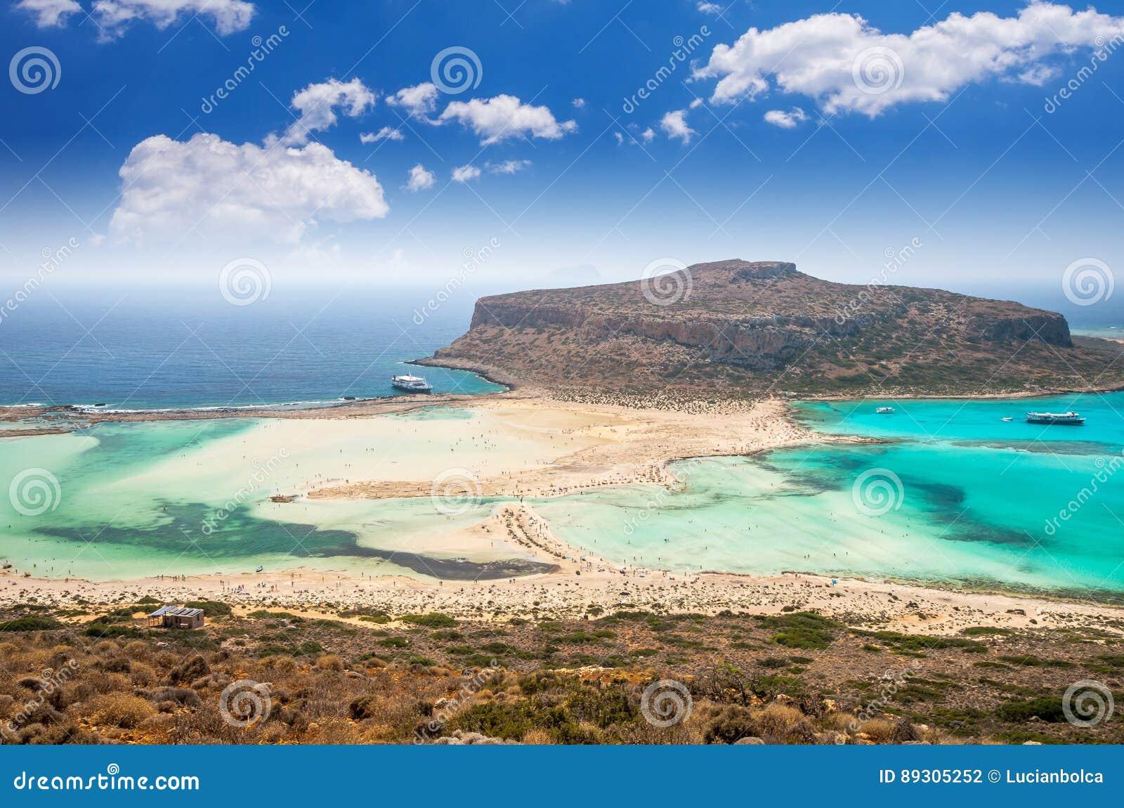 Lagoa de Balos na ilha da Creta, Grécia