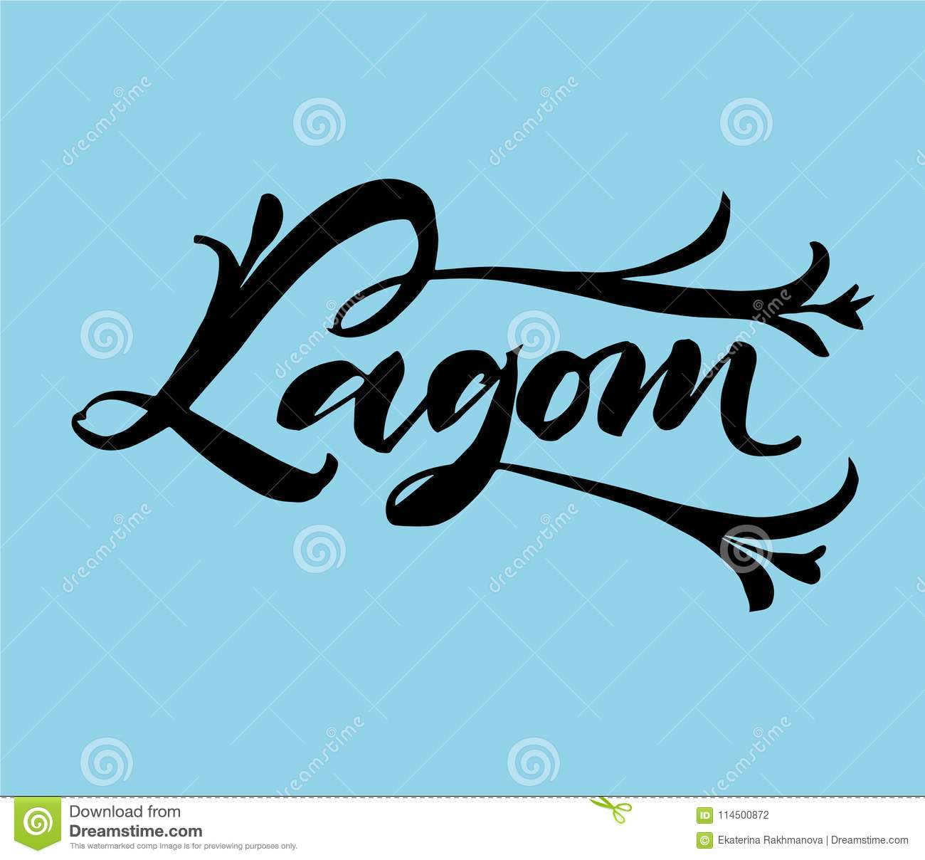 Lagom Is A Swedish Word Meaning Just The Right Amount Hand Draw