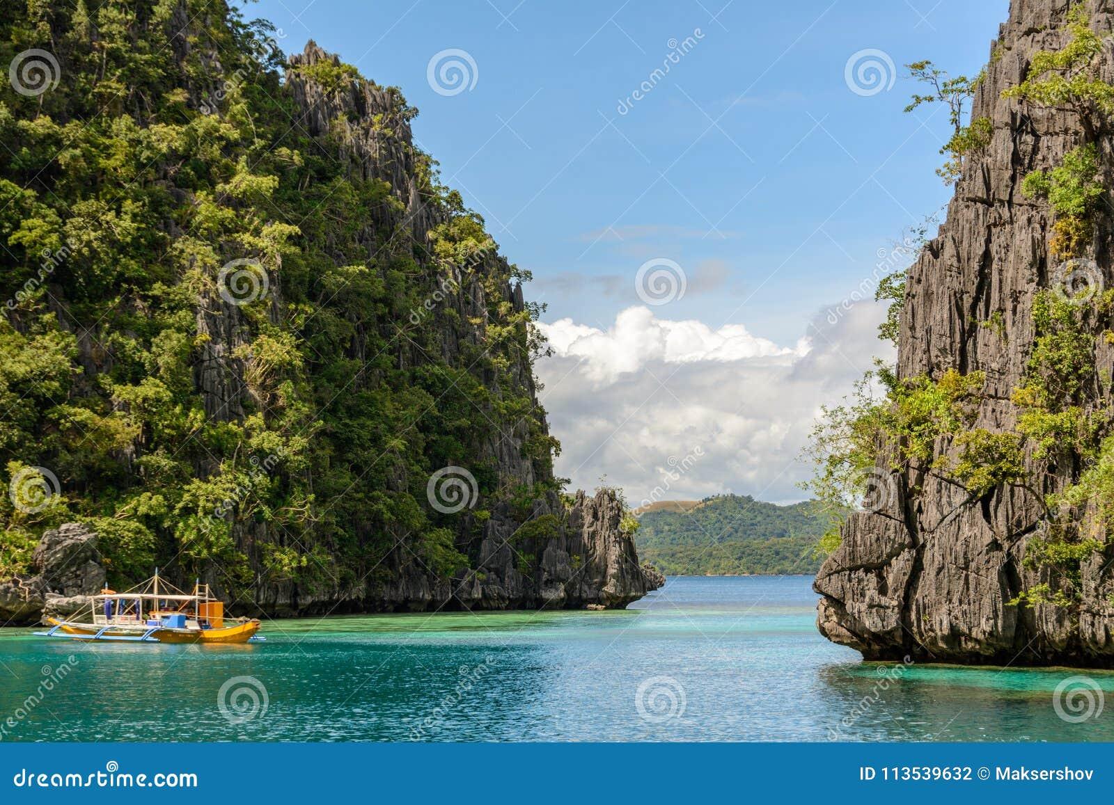 Lagoon On Coron Island Palawan Philippines Stock Photo