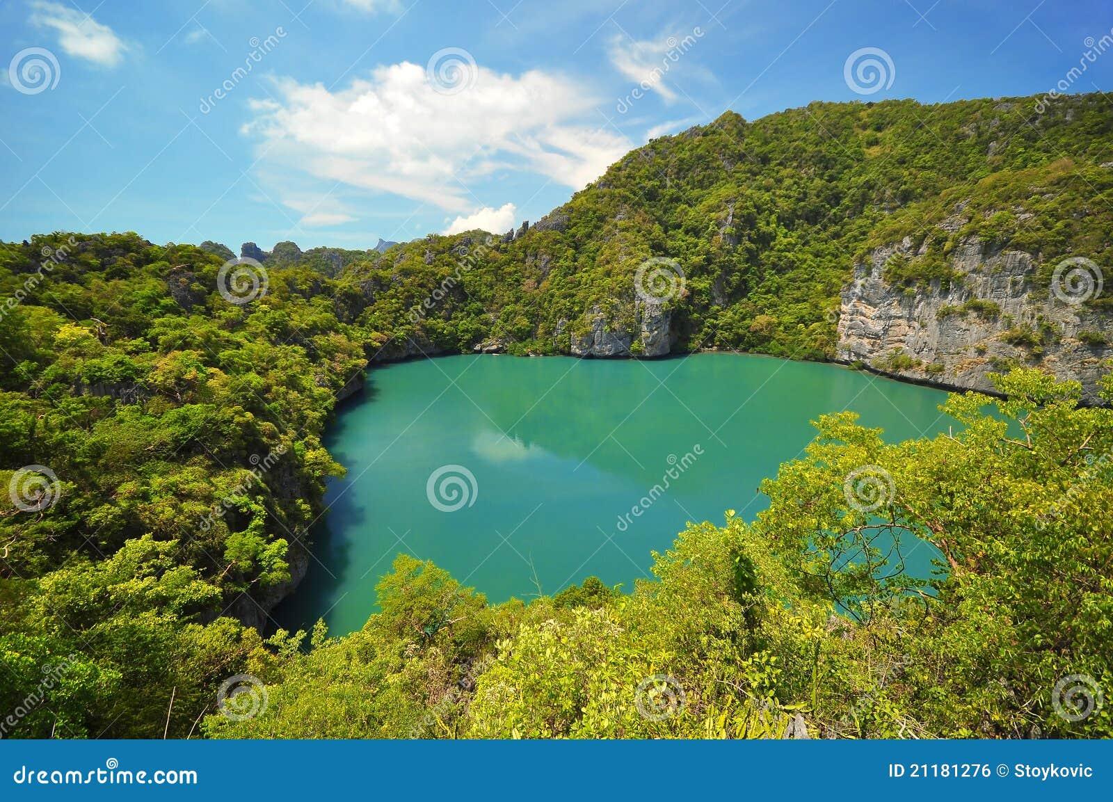 Lagoon in island at Ang Thong Island National Park