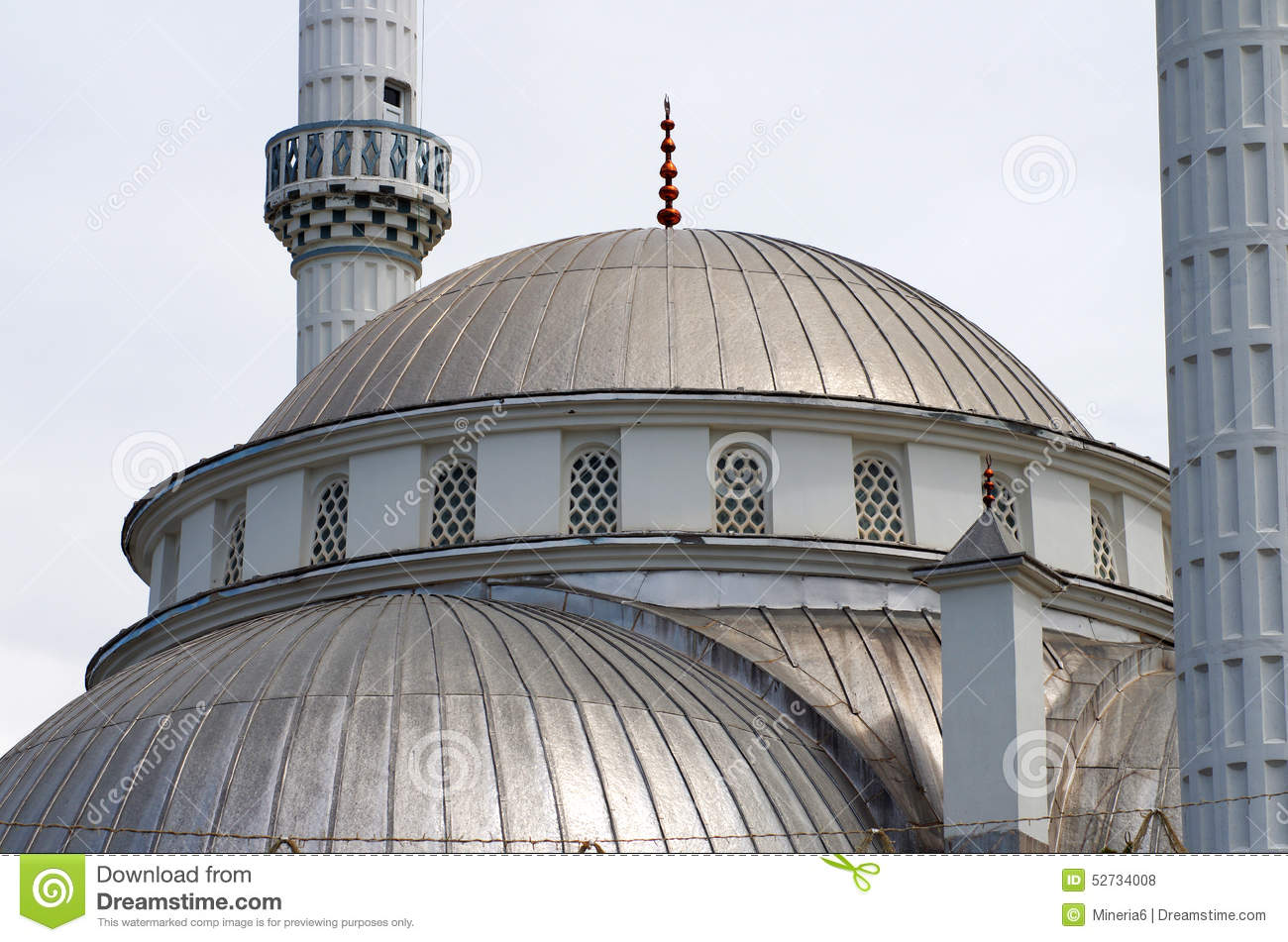 Mosque Detail: Large Mosque (detail), Turkey Stock Photo