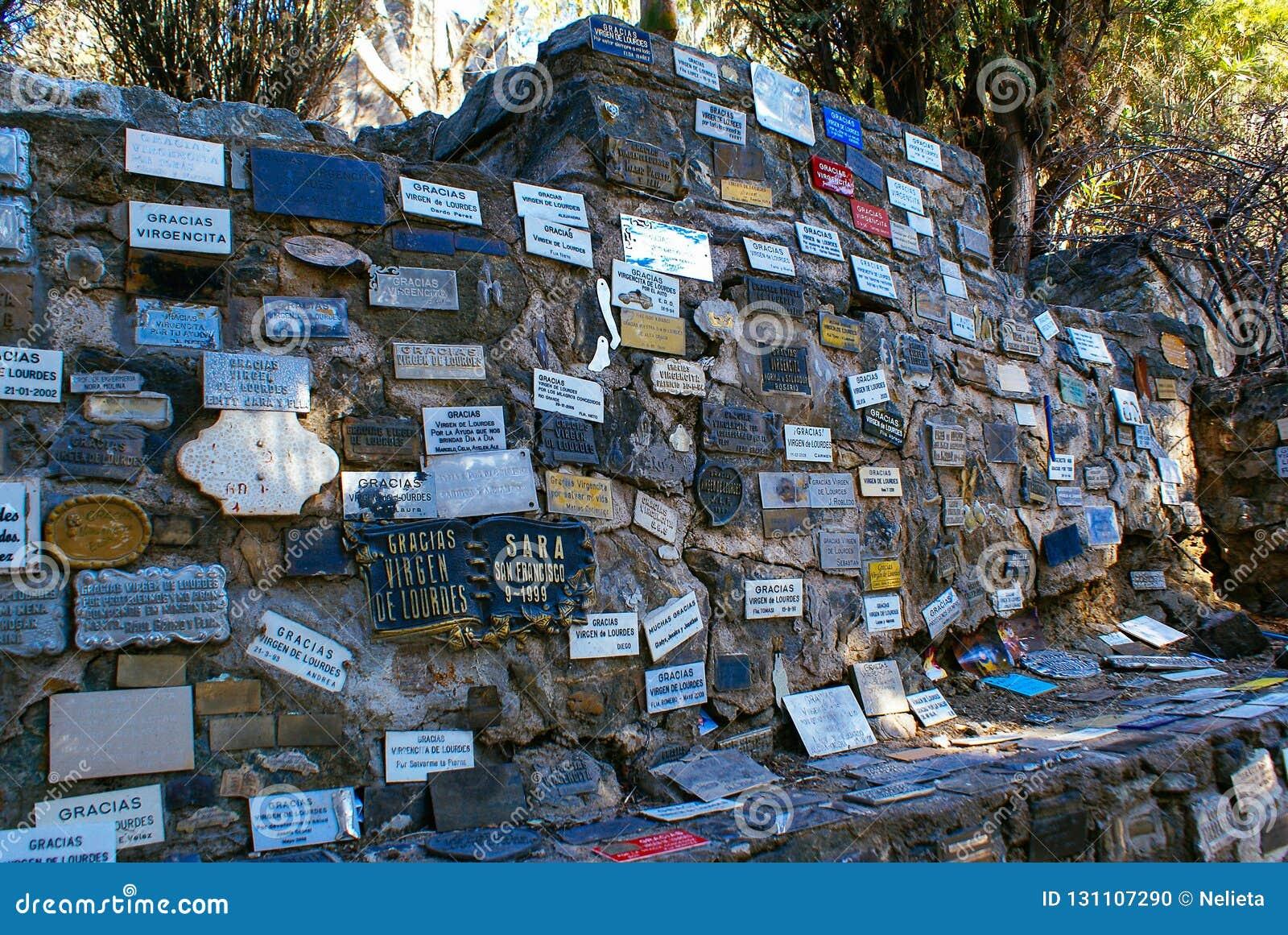 LaGruta vägg i Alta Gracia