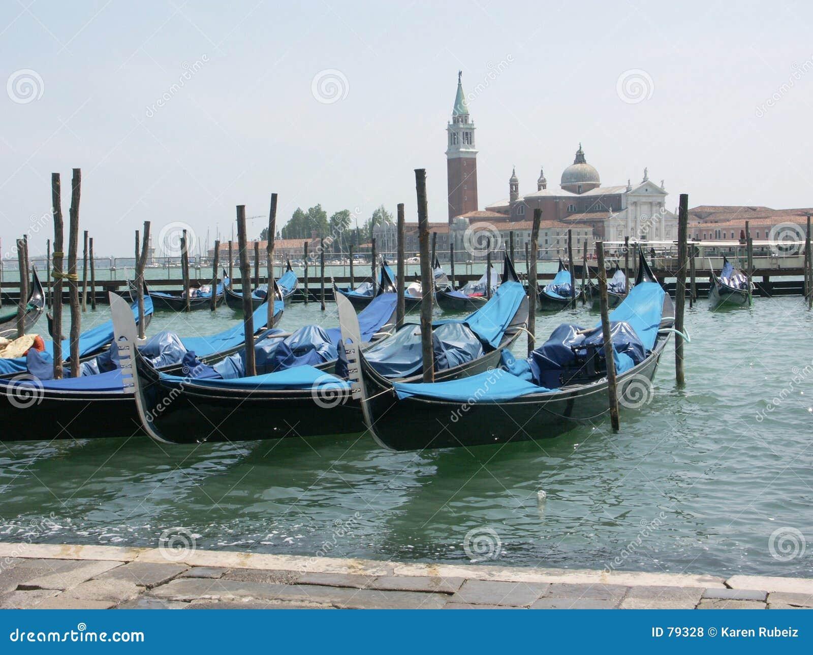 Laguna venetian gondoli