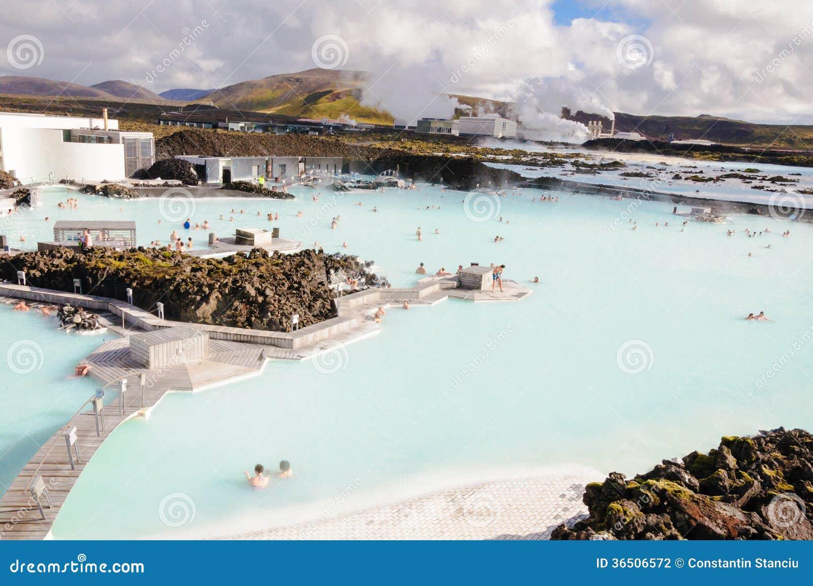 Lagune bleue - centre islandais célèbre de station thermale, Islande
