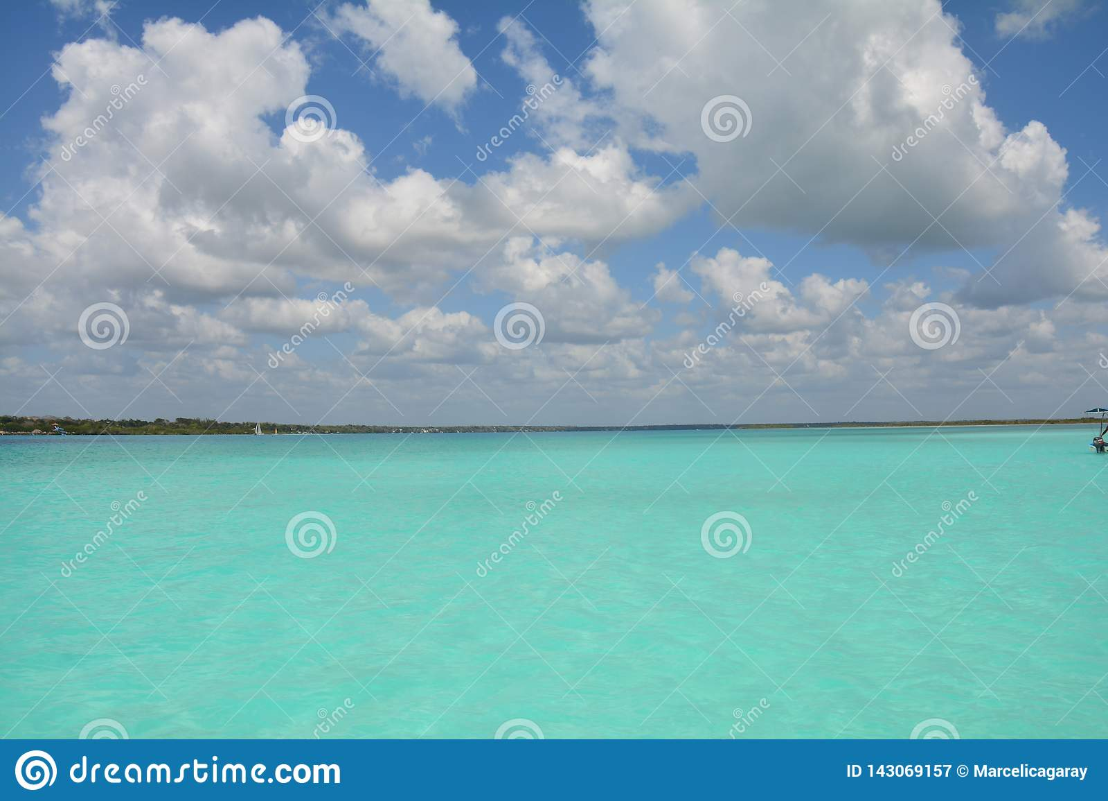Lagune de Bacalar dans Quintana Roo Mexique