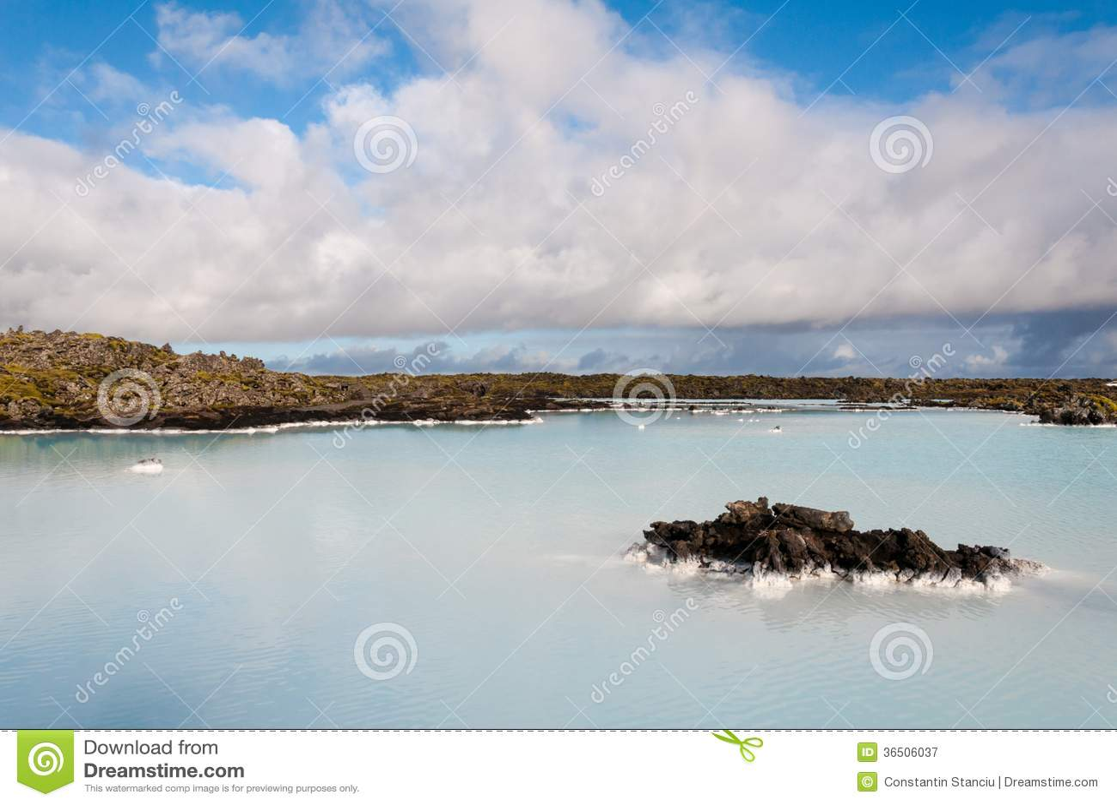 Lagune de bleu de l Islande