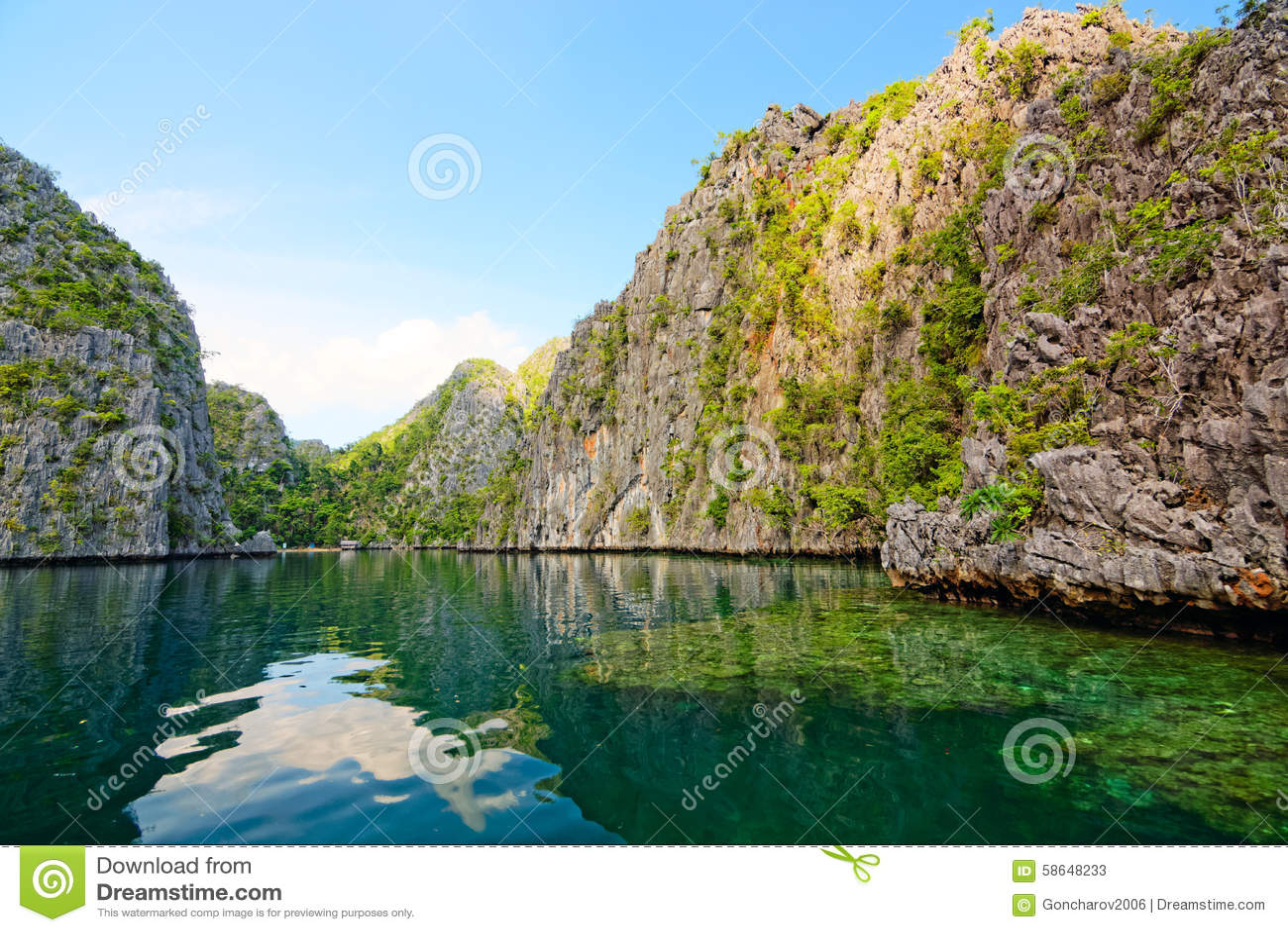 Lagunen und Felsen von Coron-Insel, Philippinen