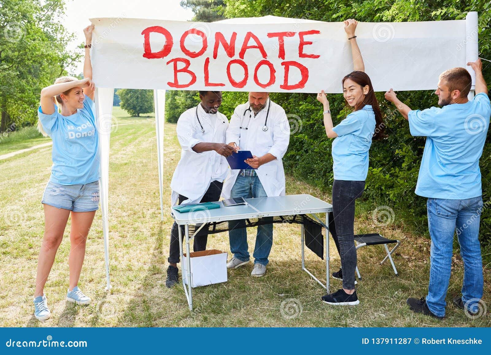 Lagvolontären annonserar bloddonation