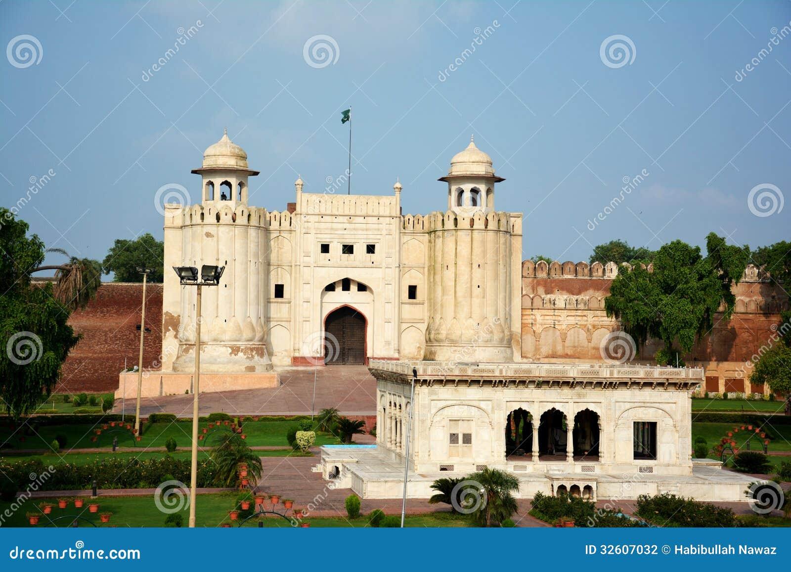Lahore fort och gravvalv av Allama Iqbal