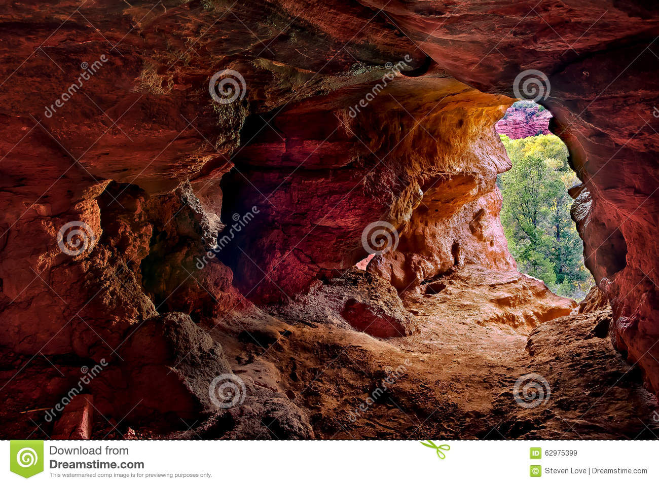 Lair of the Little Devil stock image. Image of view