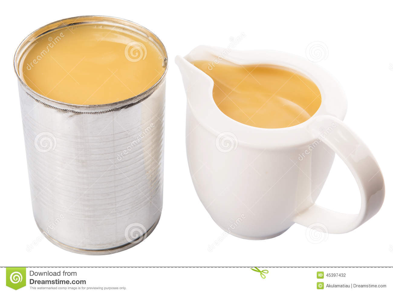 Lait condensé en Tin Can And Milk Container I