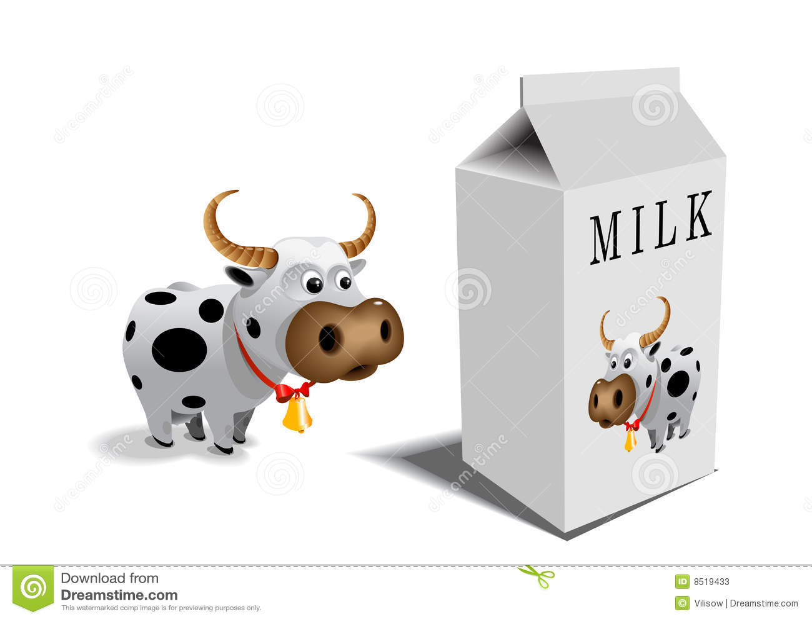 Lait de vache à cadre