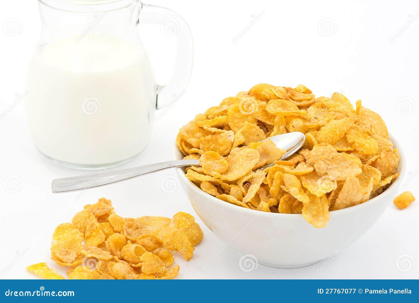 Lait et cornflakes