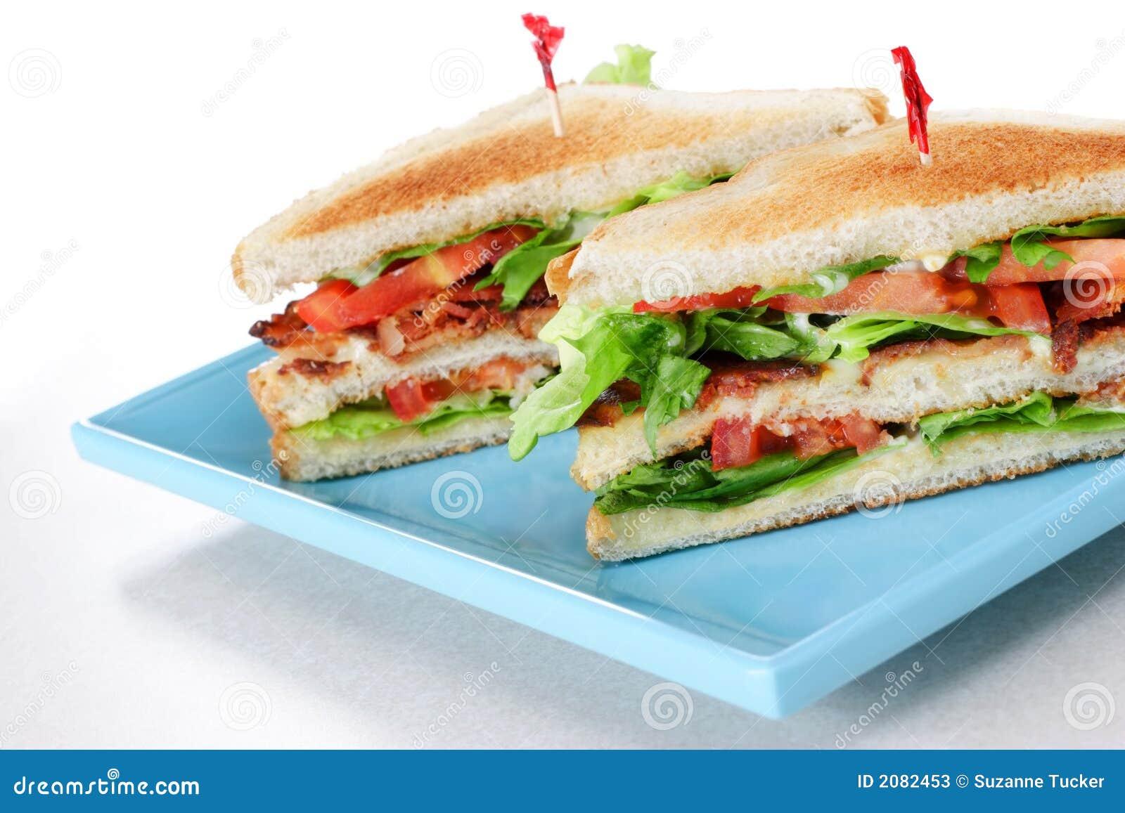 Laitue de lard et sandwich à tomate