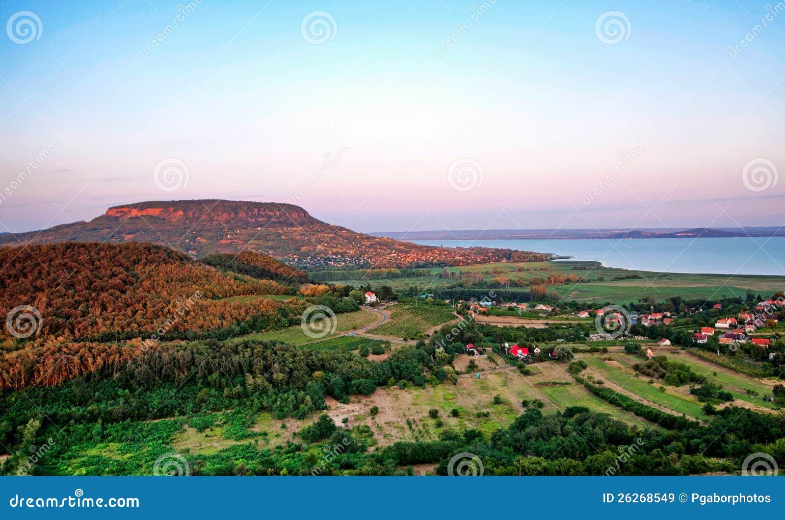 Lake Balaton In Sunset ,Hungary Royalty Free Stock Images - Image ...