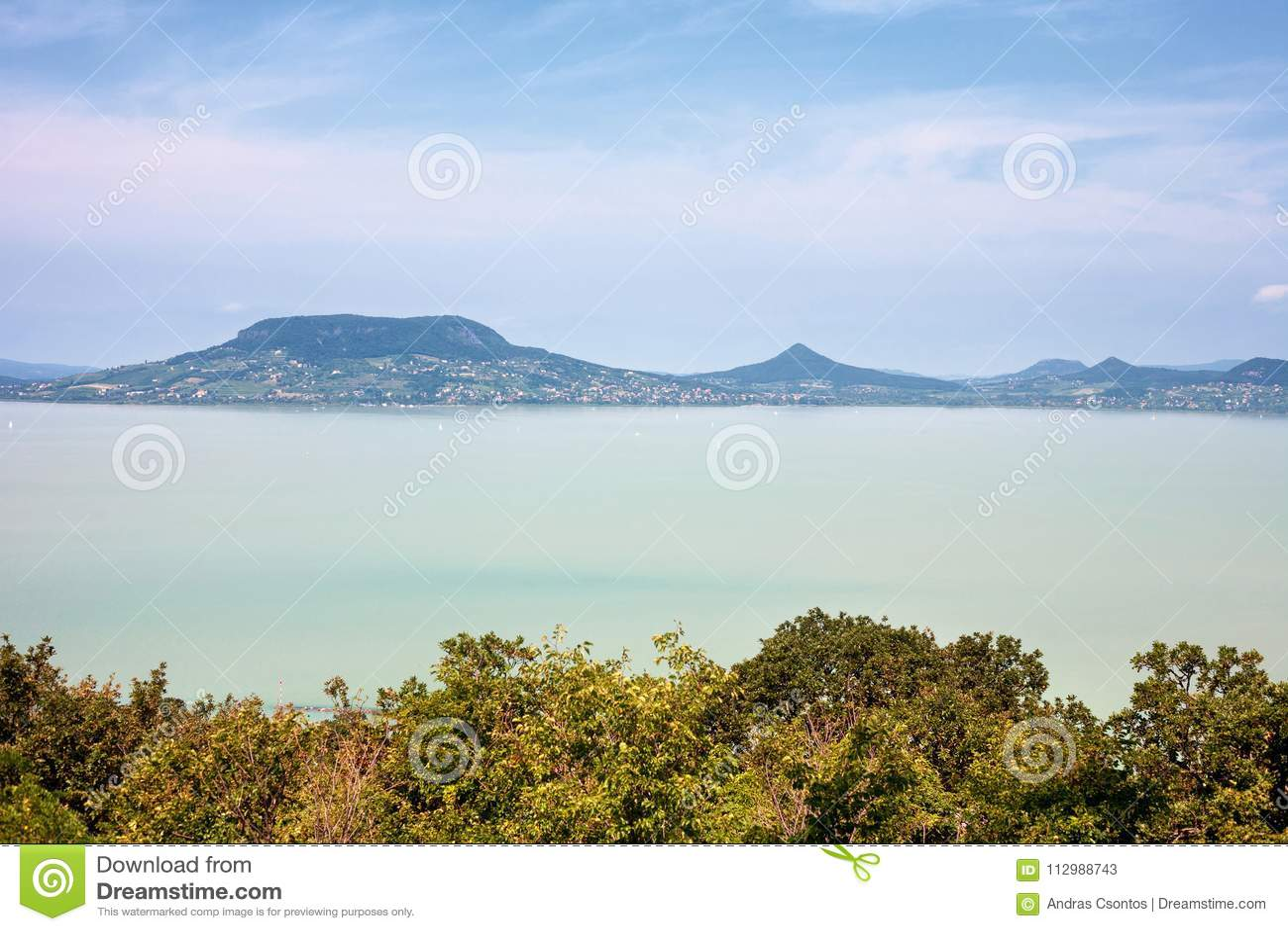 Lake Balaton viewed from the south coast