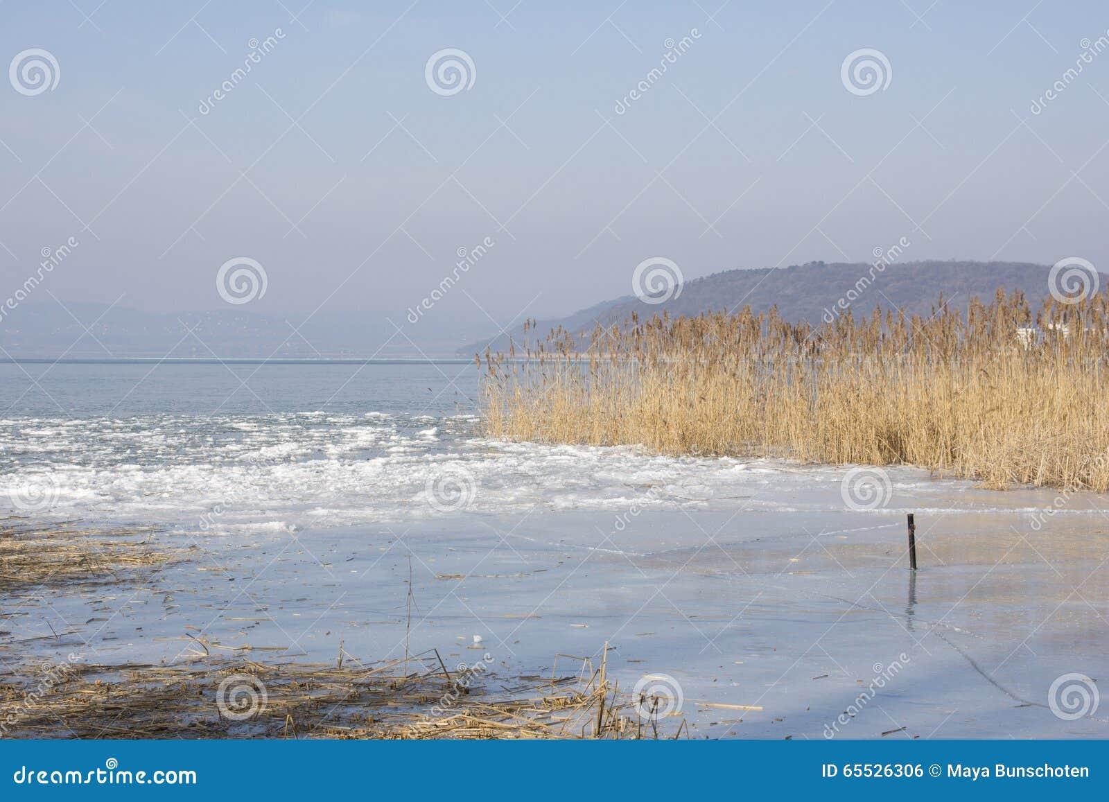 Lake Balaton In Winter Stock Photo Image Of Balaton