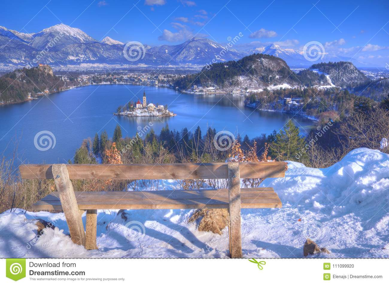 Lake Bled The Church Of The Assumption Of The Virgin Mary