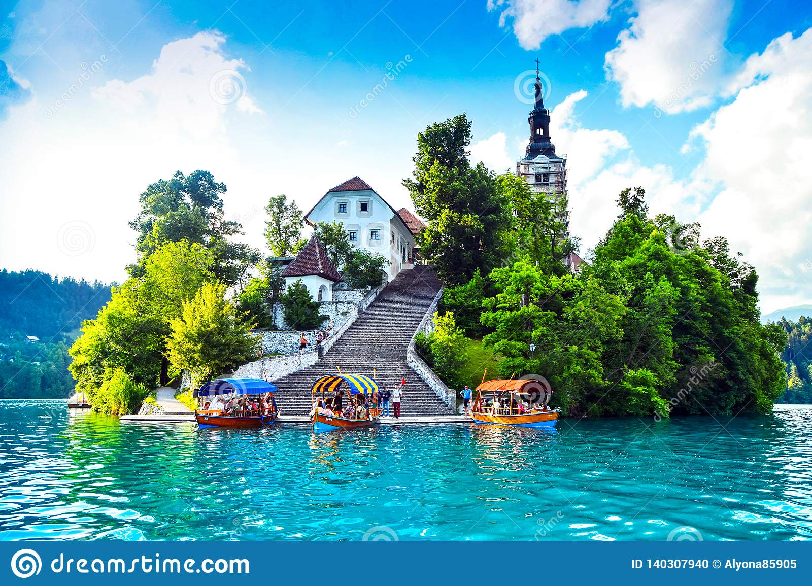 Lake Bled Slovenia Editorial Image Image Of Point Which