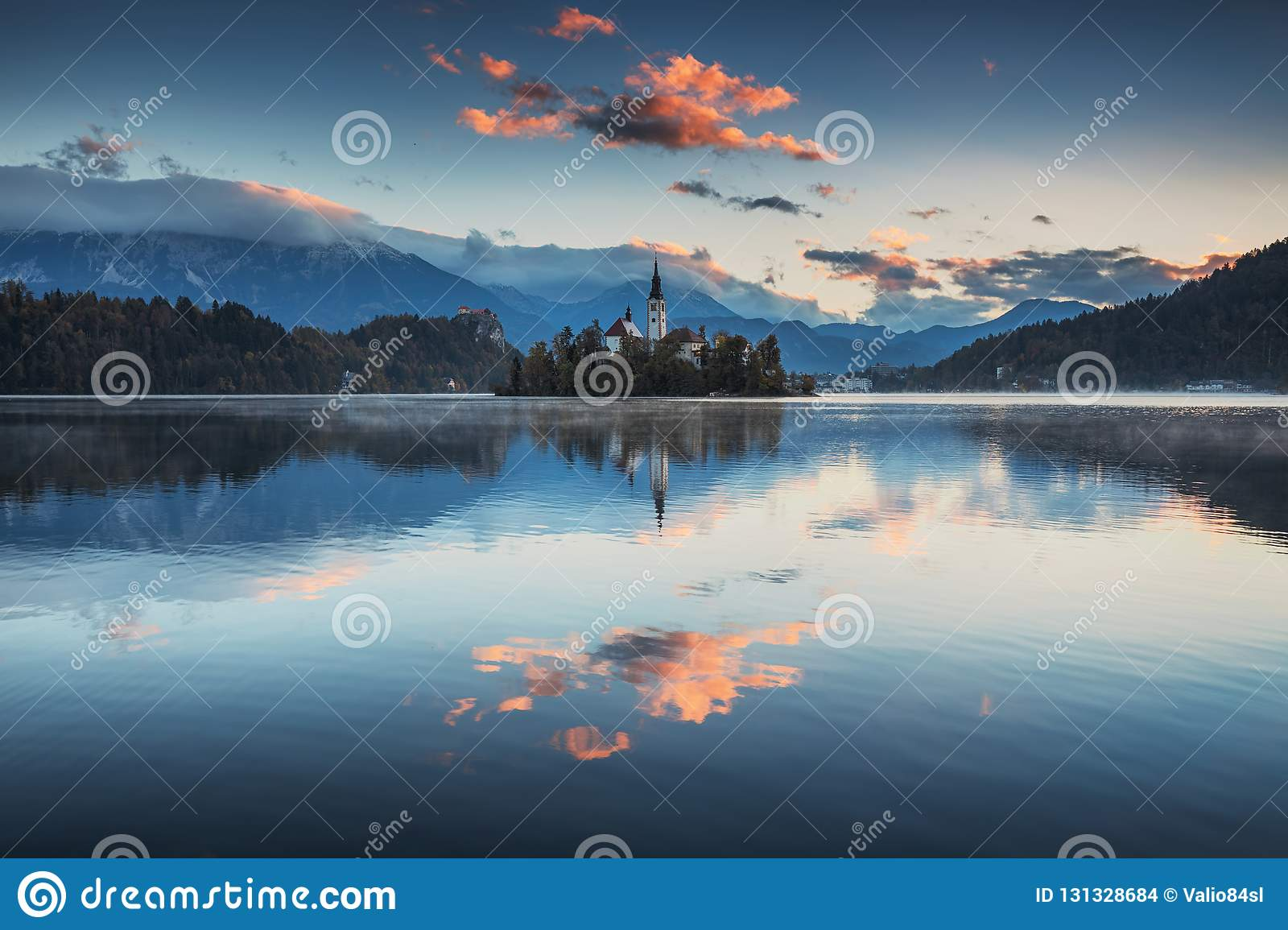 Lake Bled with St. Marys Church of the Assumption on the small i