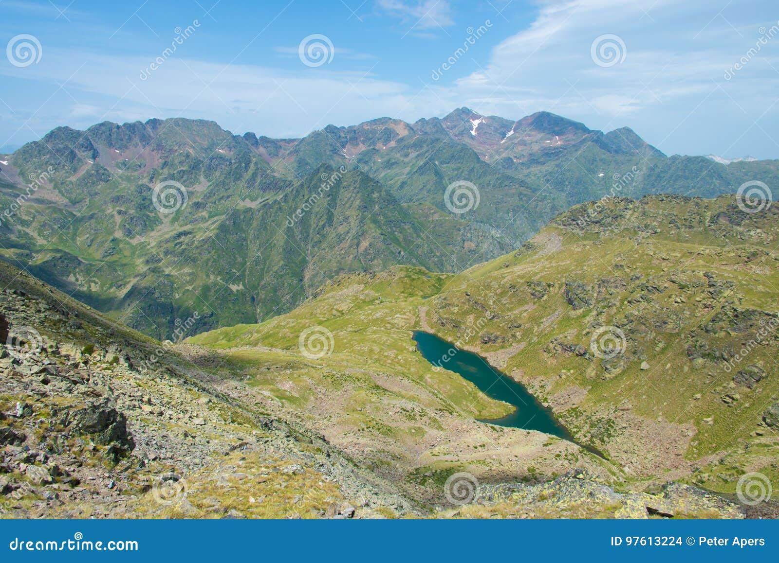 Lake on border Andorra-France
