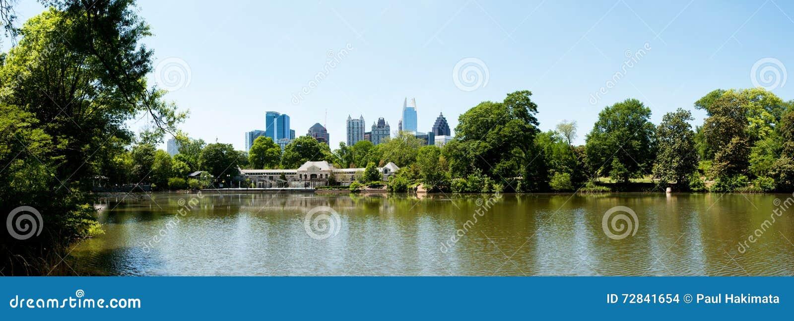 Lake Clara Meer In Piedmont Park Atlanta Stock Photo - Image