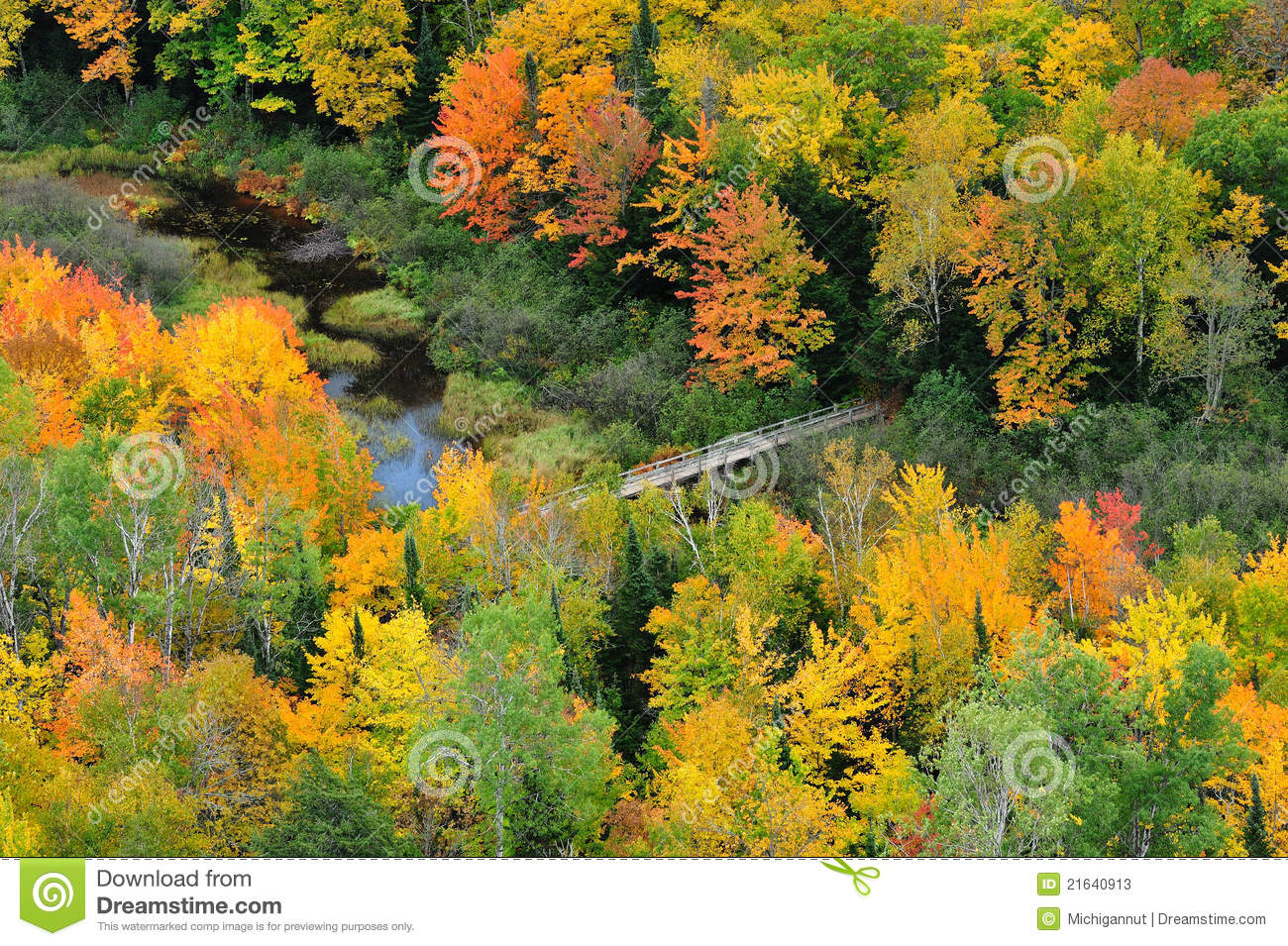 Lake Of The Clouds Porcupine Mountains Michigan Stock