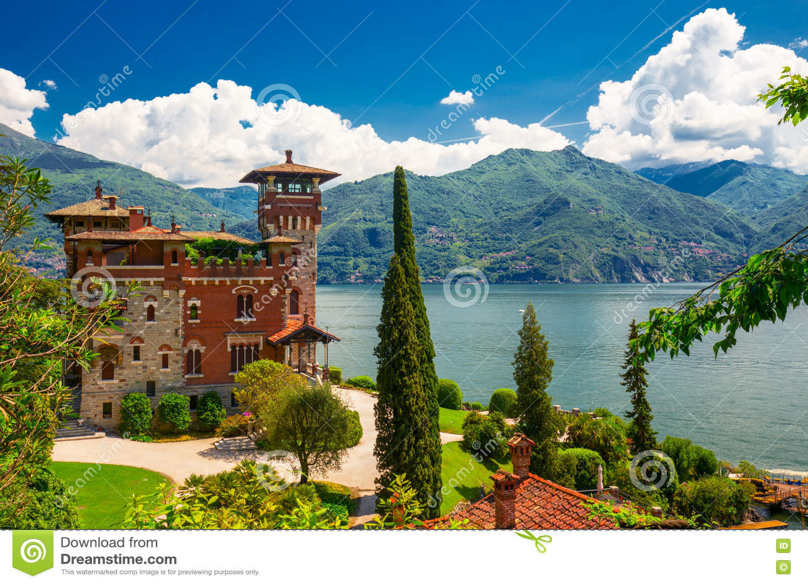 Lake Como, Italy, Europe. Villa was used for film scene in movie