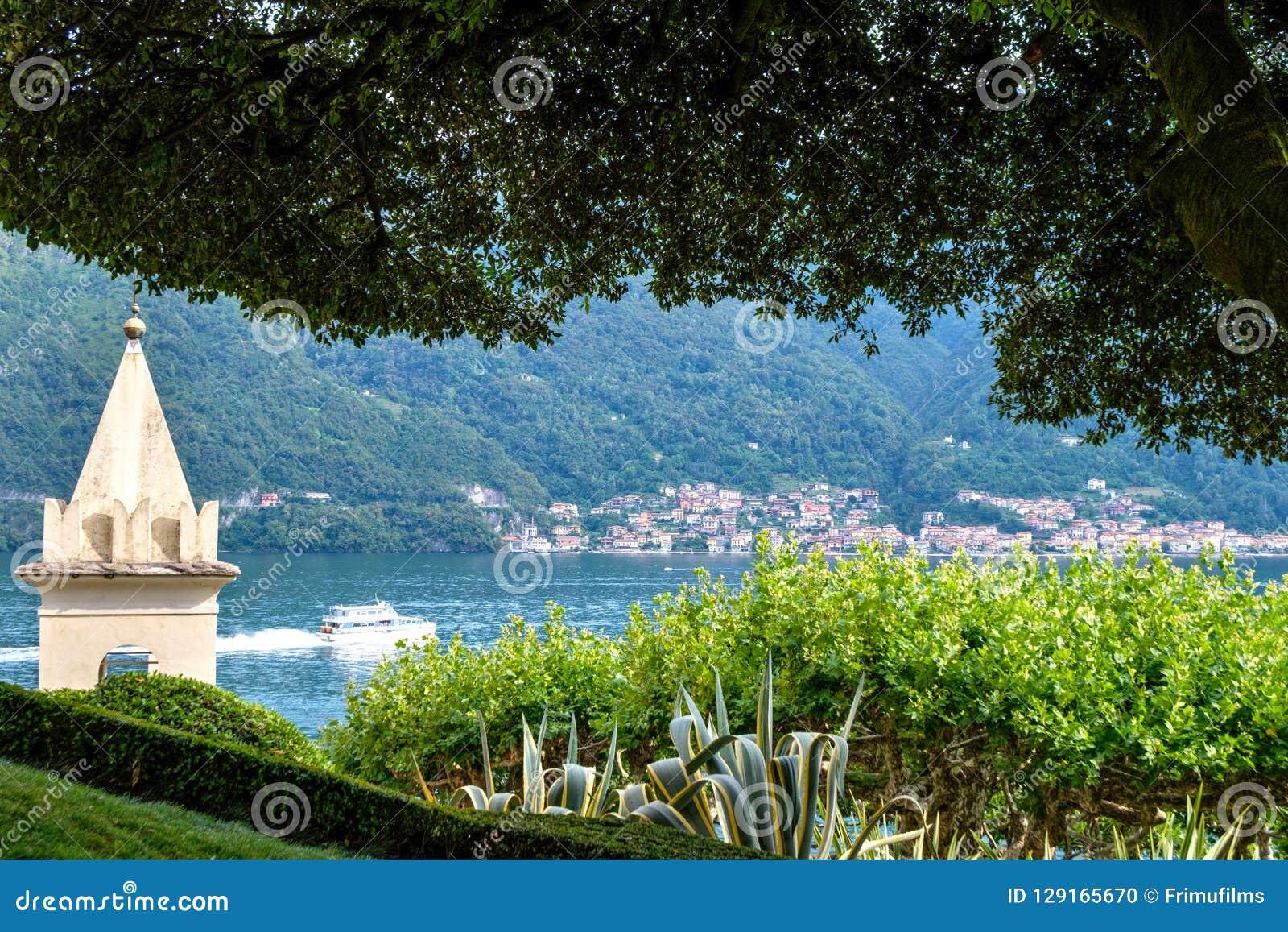 Lake Como from Villa del Balbianello view