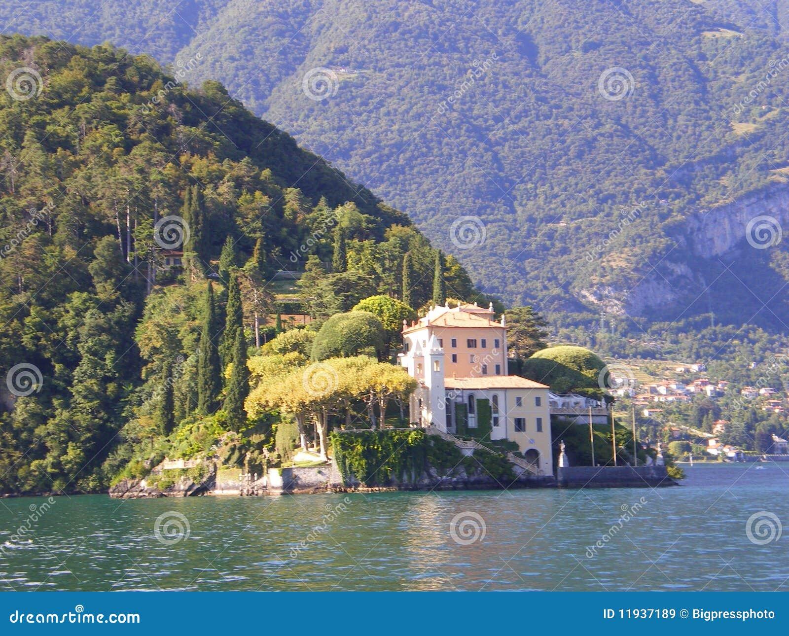 Lake Como Villa Wedding Venue Italy Royalty Free Stock Images