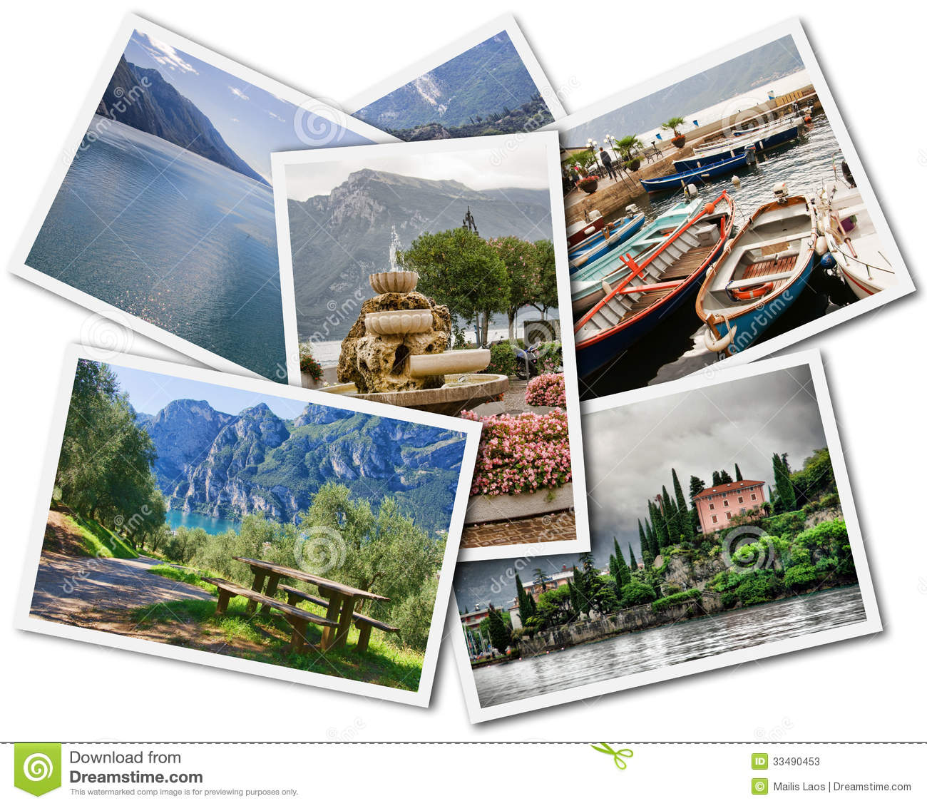 Download Lake Garda Collage stock image. Image of artistic, isolated - 33490453