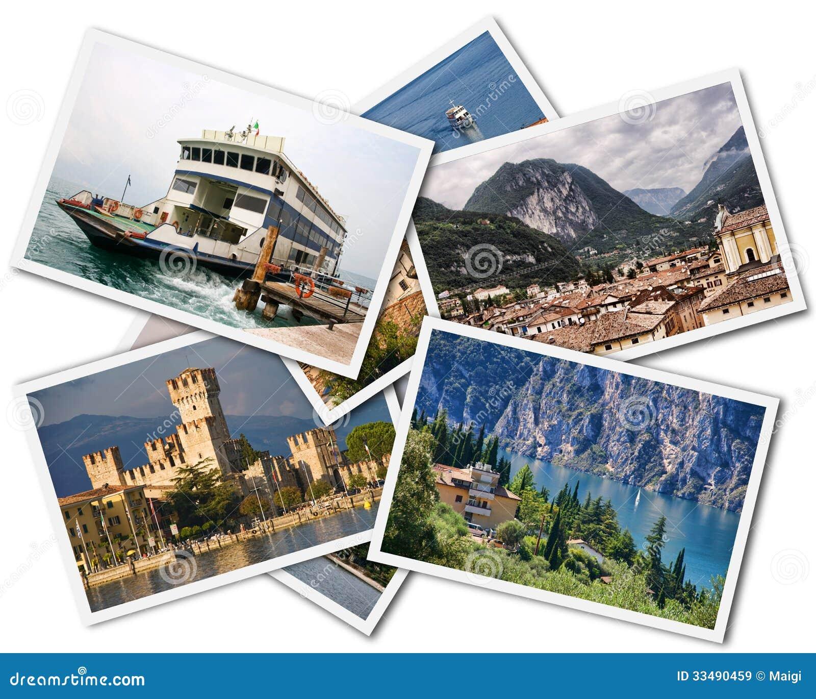 Download Lake Garda Collage stock image. Image of tourism, collage - 33490459