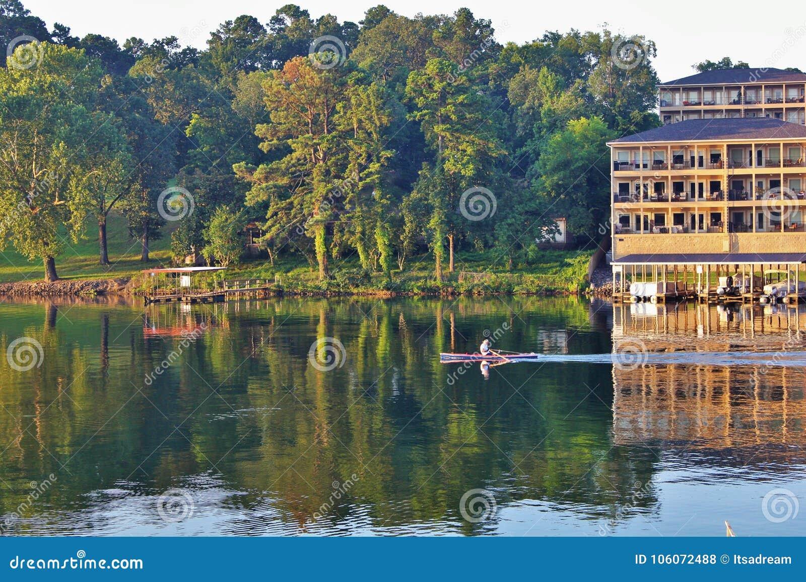 Lake Hamilton during sunrise