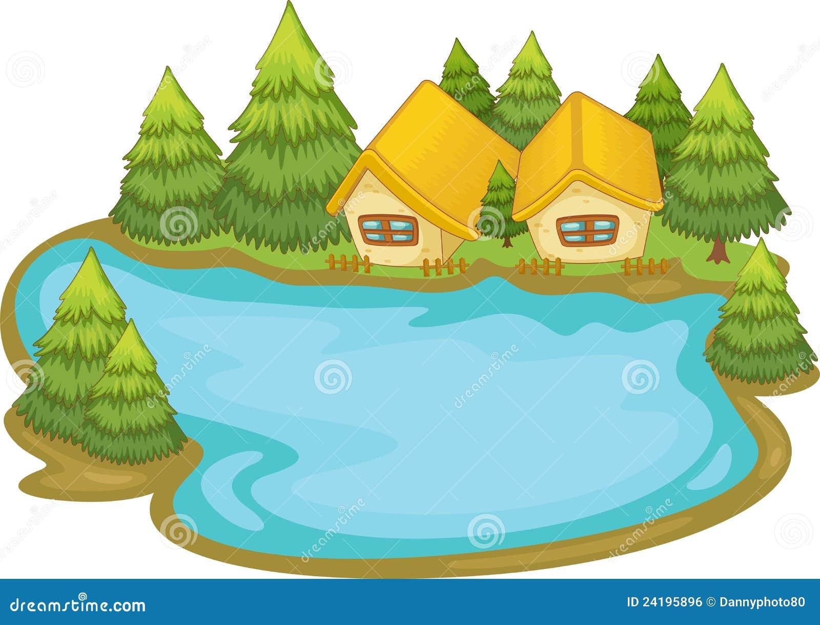 free clip art lake house - photo #7