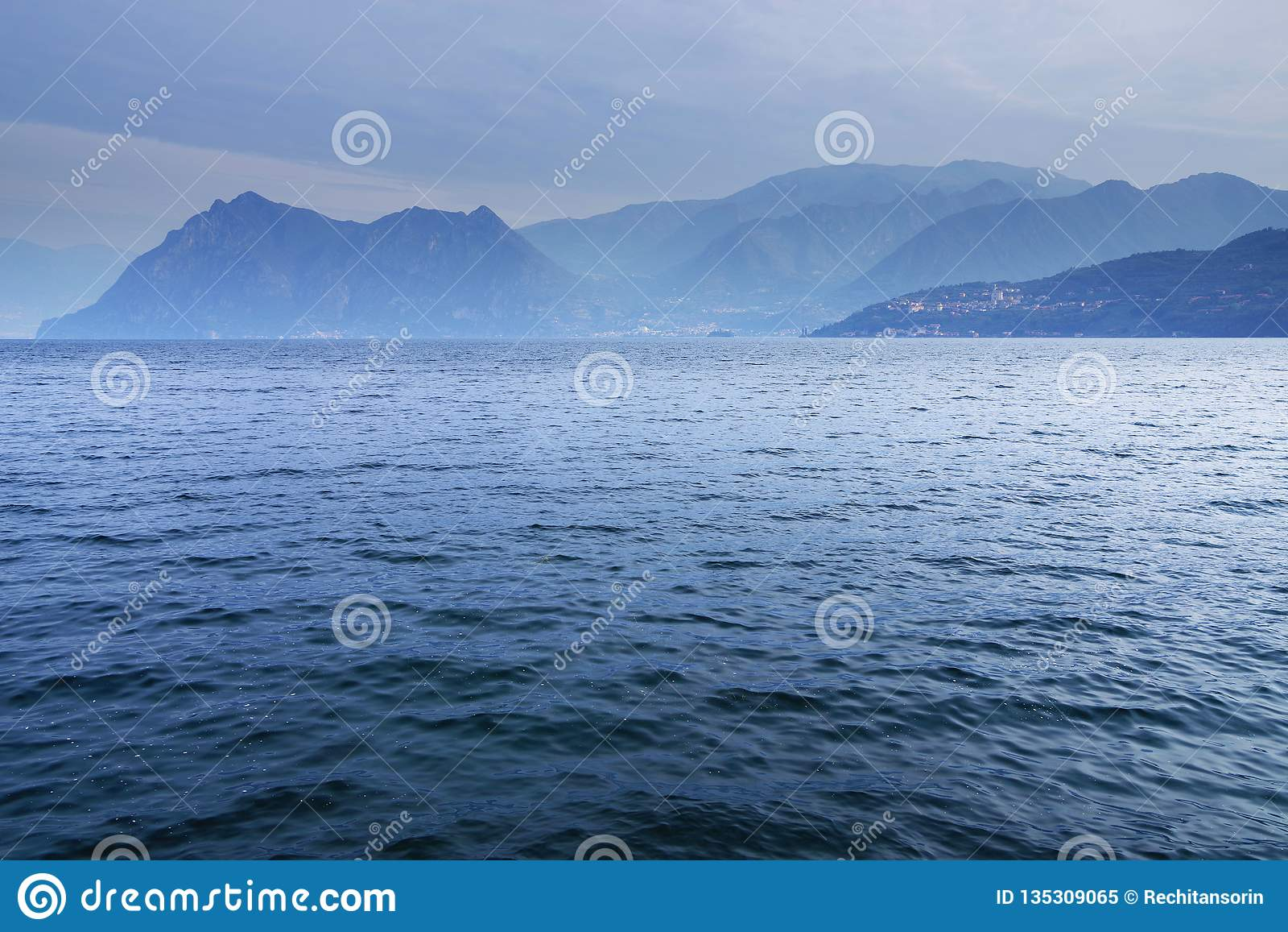 Lake Iseo, seen from its west bank.