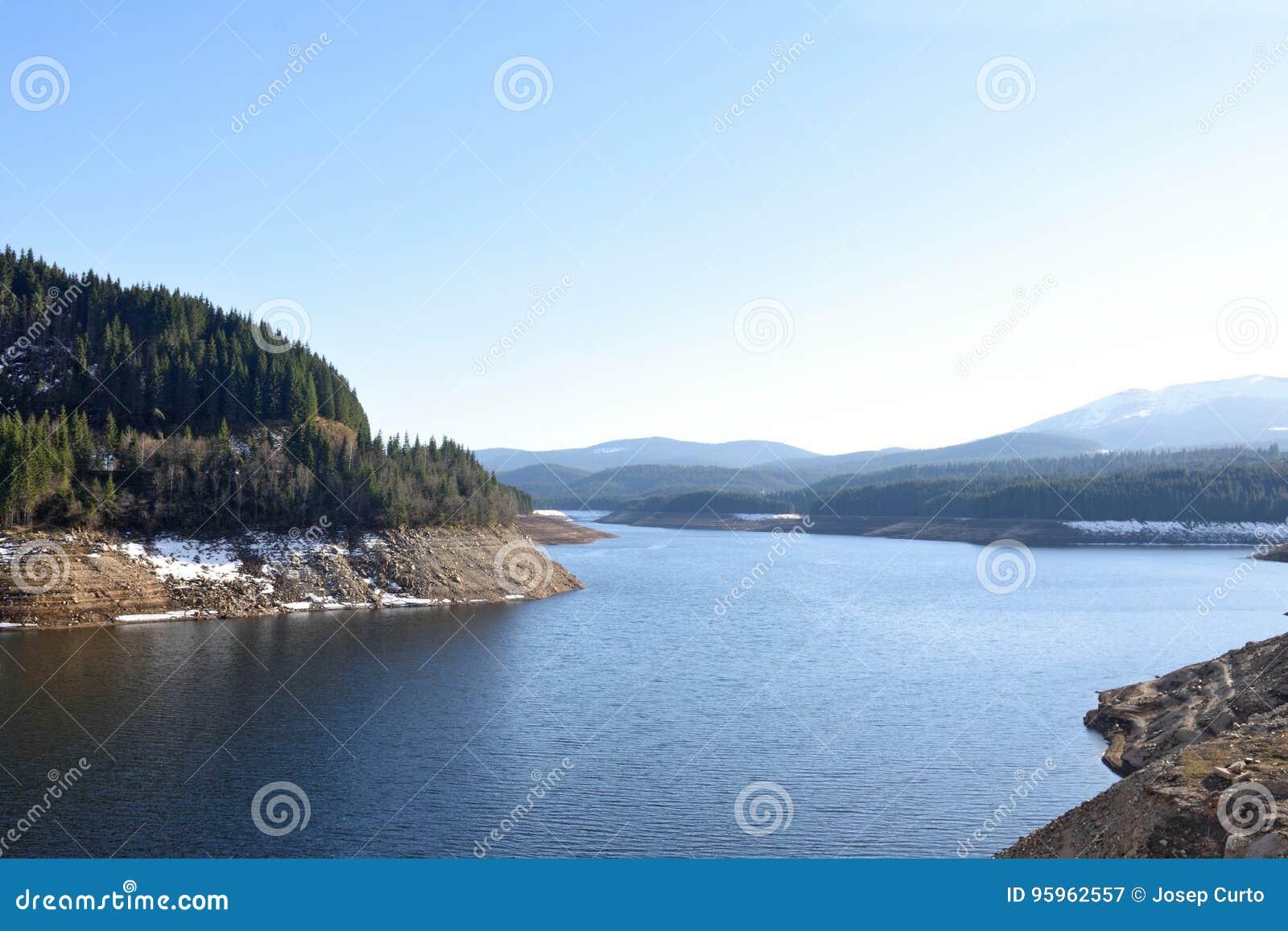 Lake of Lacul Vidraru, Transfagarasan, Romania