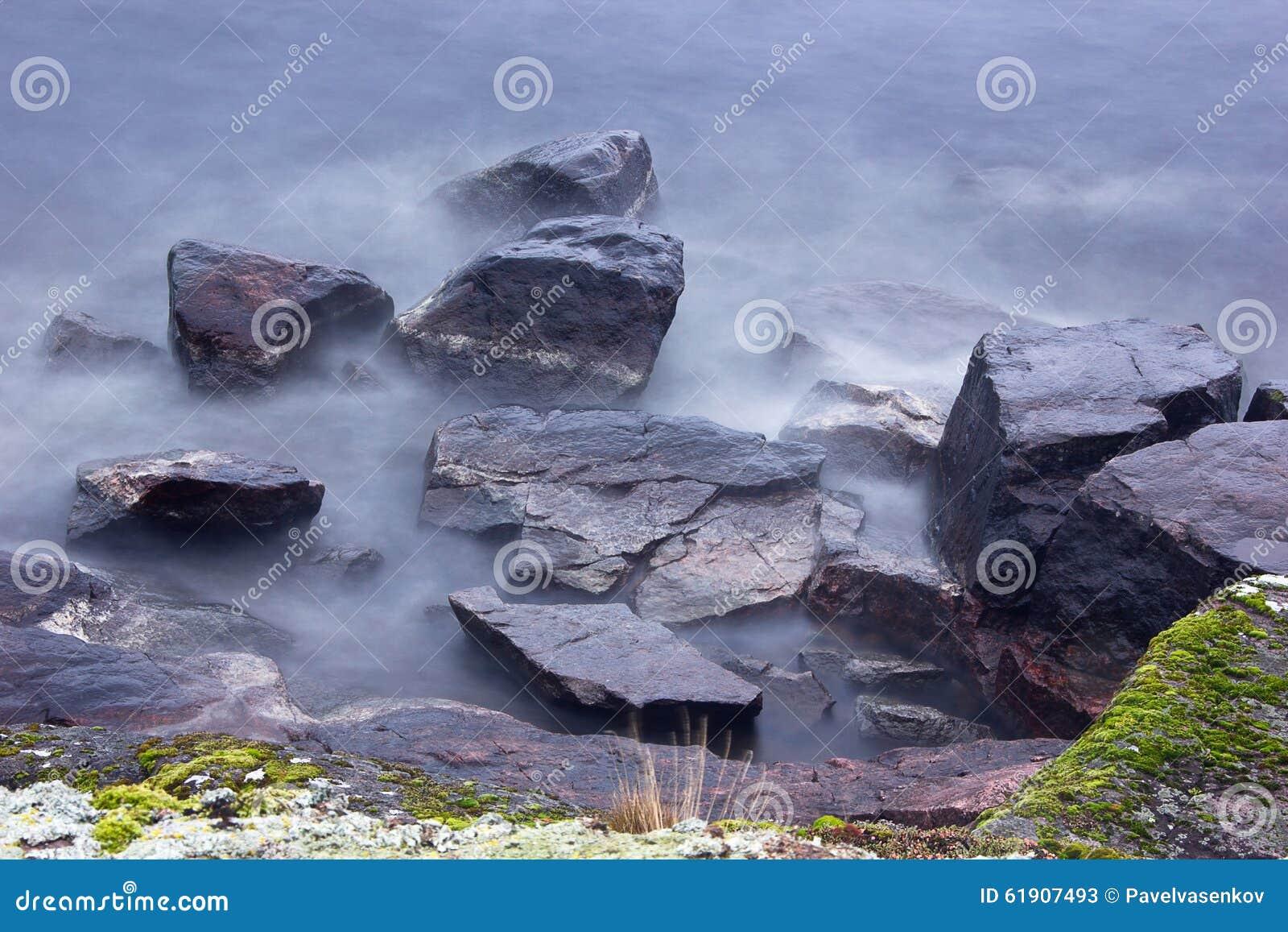 Lake Ladoga, Karelia, Russia Stock Image - Image of forest ...