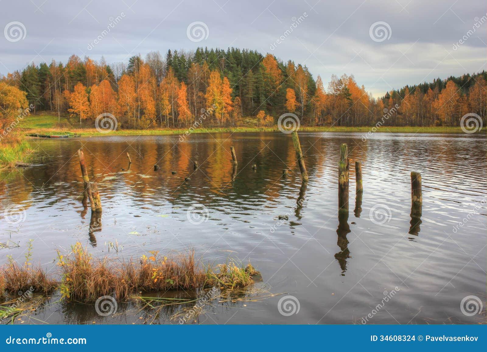 Lake Ladoga, Russia stock photo. Image of leaf, village ...